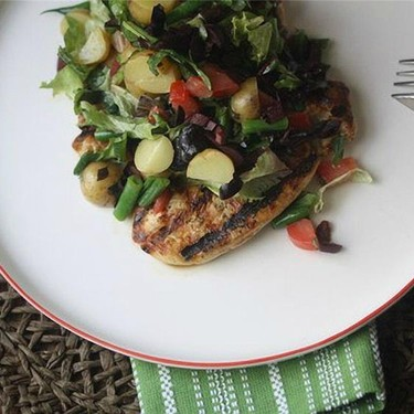 Chicken Paillard with Chopped Salad Nicoise Recipe | SideChef