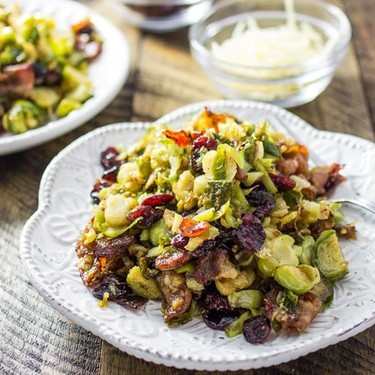 Brussel Sprouts with Bacon and Cranberries Recipe   SideChef