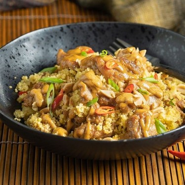 Spicy Peanut Chicken and Couscous Recipe   SideChef