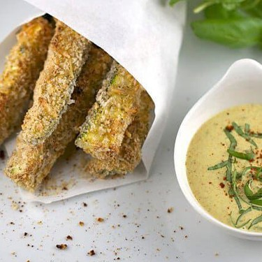 Baked Zucchini Parmesan Fries with Mustard Dip Recipe | SideChef