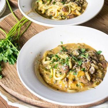 Zucchini Pasta with Creamy Mushroom Marsala Recipe | SideChef