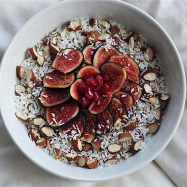 Fig, Pomegranate, and Coconut Oatmeal Recipe   SideChef