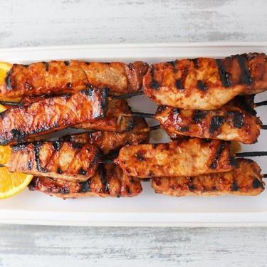 Orange BBQ Pork Skewers Recipe | SideChef