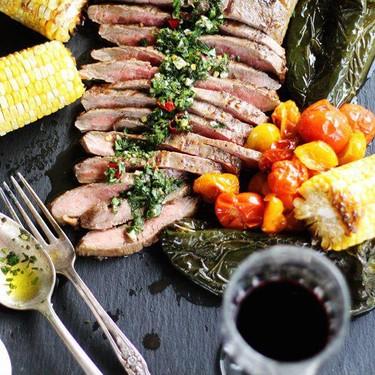 Marinated Flank Steak Asado + Chimichurri Recipe   SideChef