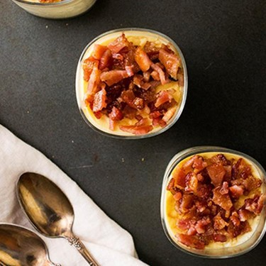 Sweet Corn Panna Cotta with Candied Bacon Recipe | SideChef