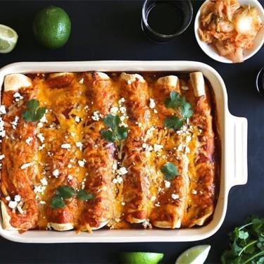 Kimchi Pork Enchiladas with Queso Fresco Recipe   SideChef