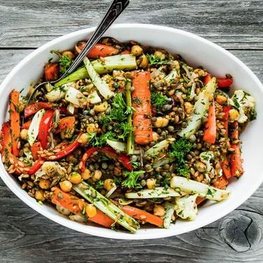 Roasted Vegetables and Farro Salad Recipe   SideChef