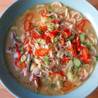 Spicy Coconut Chicken Soup with Udon Recipe | SideChef