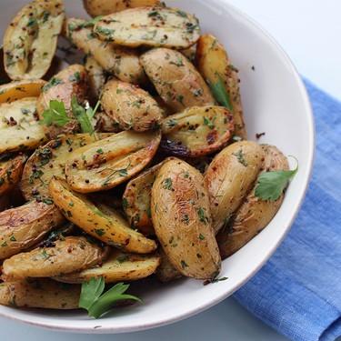 Mustard & Herb Roasted Fingerling Potatoes Recipe | SideChef