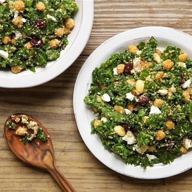 Kale, Quinoa, and Dried Cherry Salad Recipe   SideChef