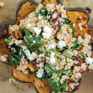 Quinoa-Stuffed Acorn Squash Recipe | SideChef