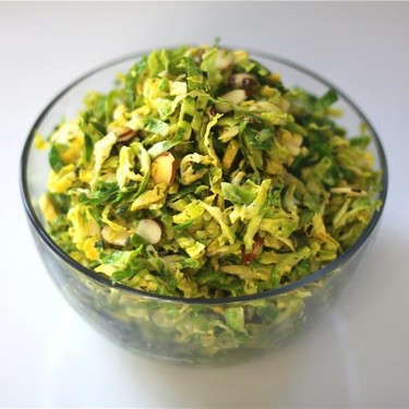 Brussels Sprout Salad with Lemon & Mint Dressing Recipe   SideChef