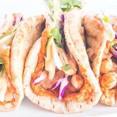 Chickpea Hummus Pitas with Spicy Tahini Recipe   SideChef