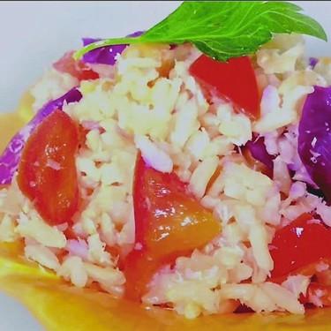 Savory Coconut Brown Rice and Quinoa Bowl Recipe   SideChef