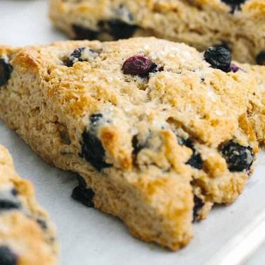Whole Wheat Blueberry Scones with Lemon Glaze Recipe | SideChef