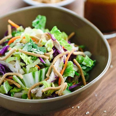 Chinese Chicken Salad with Soy Ginger Dressing Recipe   SideChef