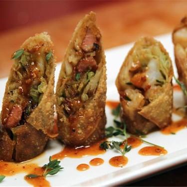 Braised Cabbage Shrimp & Bacon Egg Rolls Recipe | SideChef