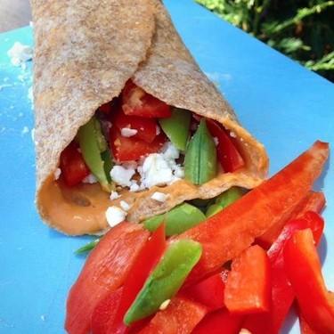 Mediterranean Veggie Wrap Recipe | SideChef