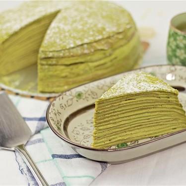Matcha Mille Crepe Cake Recipe   SideChef