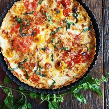 Beefsteak Tomato Tart with Caramelized Onions and Thyme Recipe   SideChef