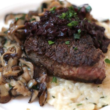 Pan Seared Angus Filets with Red Wine & Rosemary Sauce Recipe   SideChef