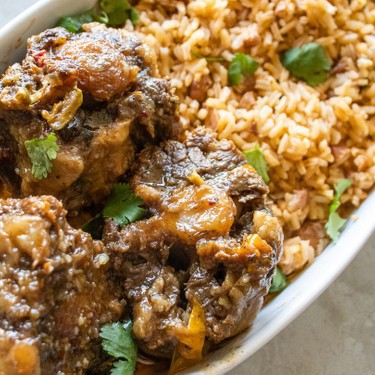 Dominican Oxtail Stew with Moro Recipe | SideChef