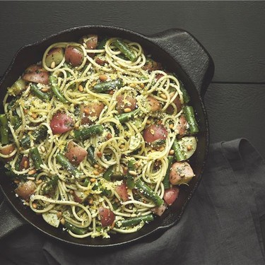 Spaghetti with Pesto with Red Potatoes and Beans Recipe   SideChef
