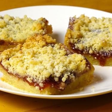 Jam Crumble Shortbread Slices Recipe | SideChef