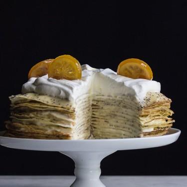 Lemon Poppy Seed Crepe Cake Recipe   SideChef