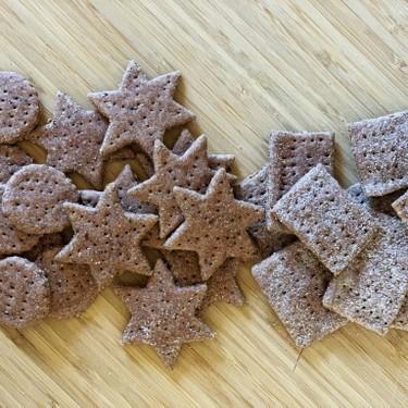 Sourdough Red Rice Flour Crackers Recipe | SideChef