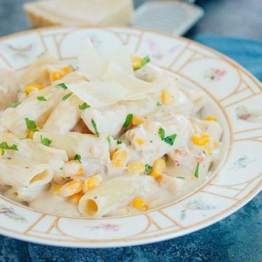 Creamy Cheese Chicken & Sweetcorn Penne Recipe | SideChef