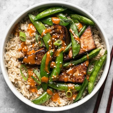Soy Marinated Tofu Bowls with Spicy Peanut Sauce Recipe   SideChef