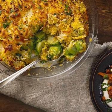 Brussels Sprout Gratin Recipe | SideChef