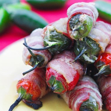 Bacon-Wrapped Pepper-Stuffed Jalapeño Poppers Recipe   SideChef
