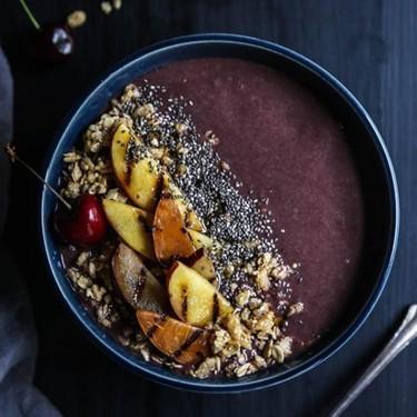 Grilled Stone Fruit Acai Bowl Recipe | SideChef