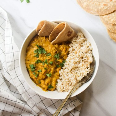 Instant Pot Coconut Masoor Dal Tadka Recipe | SideChef