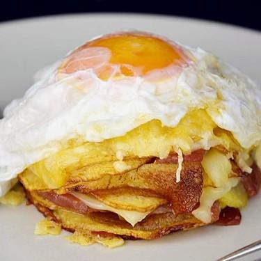 Potato, Jamón Iberico and Fried Egg Stacker Recipe   SideChef