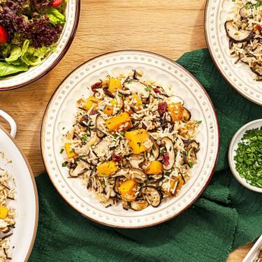Wild Rice Pilaf with Mushroom and Butternut Squash Recipe   SideChef