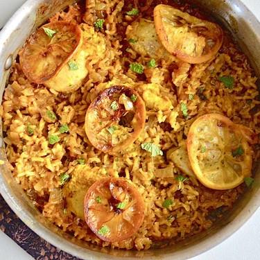 One Pan Mediterranean Chicken and Rice Recipe | SideChef