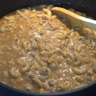 One Pot Cheesy Beef Taco Pasta Recipe | SideChef