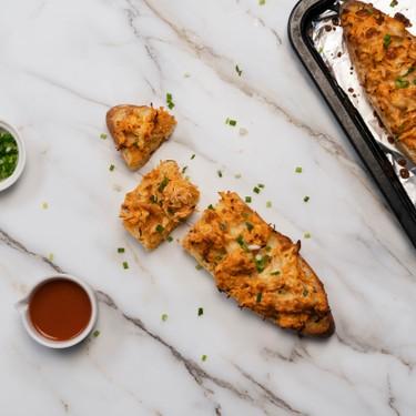 French Bread Buffalo Chicken Pizzas Recipe   SideChef