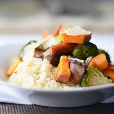 Baked Risotto with Roasted Vegetables Recipe | SideChef