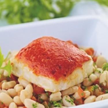 Romesco Cod with Saffron and White Beans Recipe | SideChef