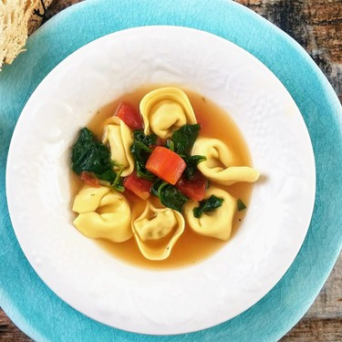 Tortellini En Brodo with Spinach and Tomatoes Recipe   SideChef