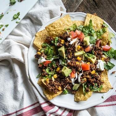 Vegetarian Quinoa and Black Bean Nachos Recipe | SideChef