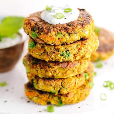 Indian-Spiced Vegetable Cakes with Chickpeas Recipe   SideChef