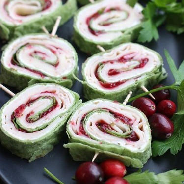 Turkey and Cranberry Pinwheels Recipe   SideChef