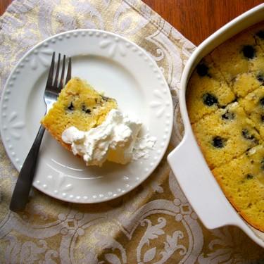Blueberry Cornmeal Cake Recipe | SideChef