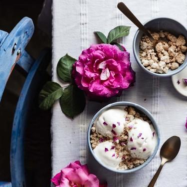 Rosewater and Mastiha No-Churn Ice Cream Recipe   SideChef