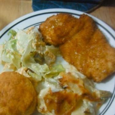 Chicken Schnitzel and Mozzarella Potato Gratin Recipe   SideChef